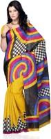 Diva Fashion Geometric Print Art Silk Sari