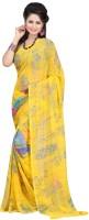 Bunny Sarees Floral Print Chiffon Sari