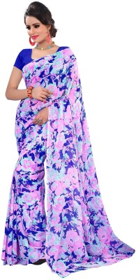 Sweethearts Fashion Sweethearts Fashion Floral Print Daily Wear Georgette Sari (Multicolor)