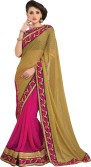 MS Retail Self Design Fashion Brasso, Chiffon Sari