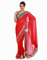 Samyakk Floral Print Chiffon Sari