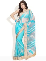 Soch Self Design Embroidered Synthetic Sari
