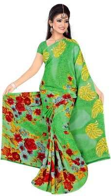 Art Silk Nj Fabric Printed Fashion Art Silk Sari (Green)