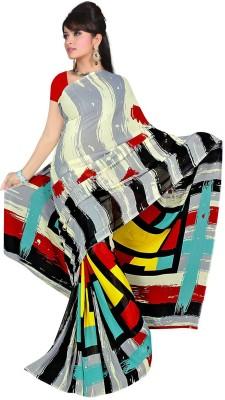 Wear Your Mind Nj Fabric Printed Daily Wear Art Silk Sari (Red)
