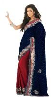 Samyakk Printed Crepe Sari
