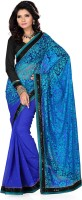 Deepika Self Design Embroidered Embellished Georgette, Brasso Sari