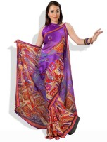 Adaas Printed Synthetic Sari