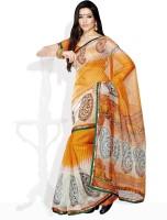 Tamanna Fashions Striped, Printed Cotton Sari