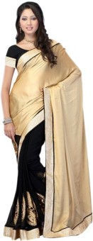 Sareeka Sarees Plain, Floral Print Bollywood Georgette Sari