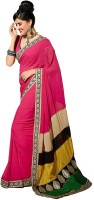 Bhavi Printed Embroidered Chiffon Sari