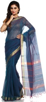 Sudarshan Silks Self Design Dharmavaram Handloom Cotton Sari
