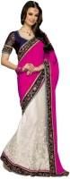 Fashionista Printed Embellished Crepe, Net Sari