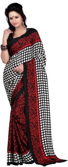 Anoha Printed Bhagalpuri Silk, Crepe Sari