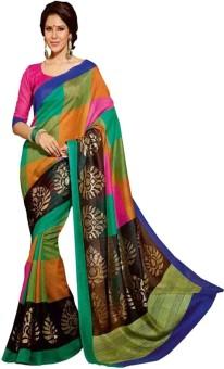 Kajal Sarees Solid Banarasi Art Silk Sari