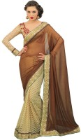 Chirag Sarees Self Design Embroidered Embellished Georgette Sari