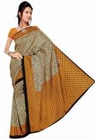 Rangmanch Floral Print, Geometric Print Silk Sari