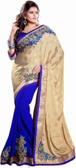 Sourbh Sarees Floral Print Embroidered Jacquard Sari