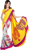 Rangmanch Floral Print Chiffon Sari