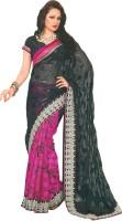 Bhavi Printed Embroidered Embellished Brasso Sari