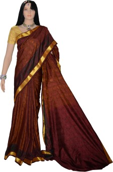 Lakshmi Lifestyle Kanchipuram Silks Woven, Self Design Kanjivaram Handloom Silk Sari