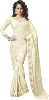 Nanda Silk Mills Self Design Bollywood Crepe, Jacquard Sari