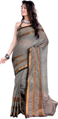 Ishin Printed Embroidered Embellished Cotton Sari available at Flipkart for Rs.499