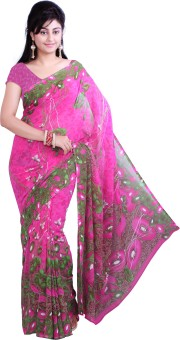 Ishin Printed Fashion Georgette Sari: Sari
