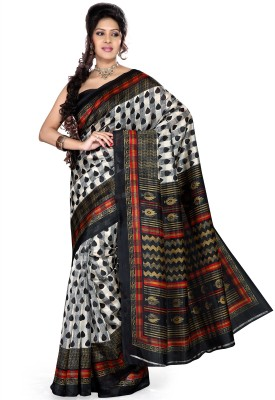 Saree Swarg Printed Art Silk Sari available at Flipkart for Rs.499