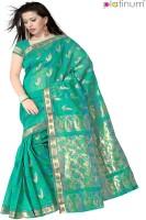Platinum Striped Chanderi Sari