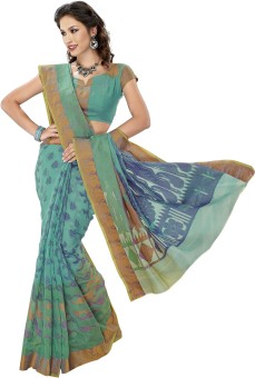 Aanya Printed, Self Design Chanderi Chanderi Sari