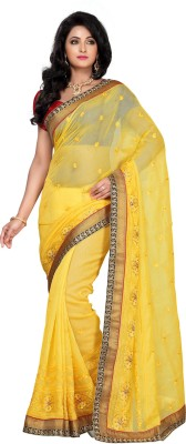 Apple Saree Self Design Fashion Brasso Sari available at Flipkart for Rs.2740