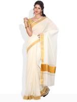 Ennthra Striped, Checkered Cotton Sari
