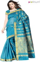 Platinum Printed Chanderi Sari