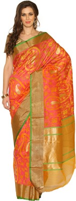 Rangoli Rangoli Self Design Fashion Silk Sari (Multicolor)