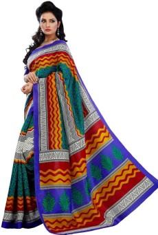 Riti Riwaz Printed Bhagalpuri Silk Sari