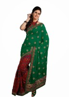 Ashika Printed Embroidered Embellished Chiffon Sari