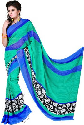 Sweethearts Fashion Sweethearts Fashion Printed Daily Wear Chiffon Sari (Multicolor)