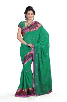 Chirag Sarees Self Design Embroidered Embellished Chiffon Sari - SARDWYYDRAYAWHY2