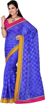 Triveni Checkered Fashion Net Sari