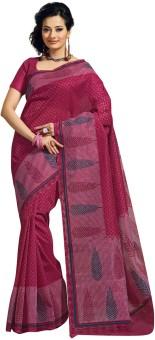 Fabdeal Floral Print Cotton Sari