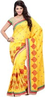 Diva Fashion Self Design Embroidered Embellished Art Silk Sari
