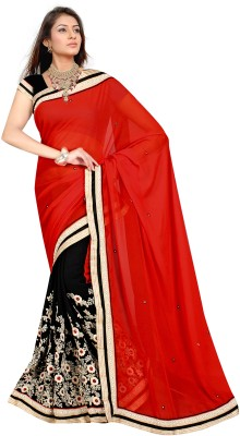 Alira Solid Bollywood Georgette Sari (Multicolor)