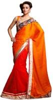 Ethnic Dukaan Floral Print Chiffon Sari