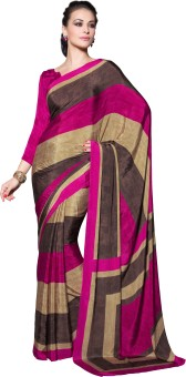 Manvaa Printed Fashion Crepe Sari