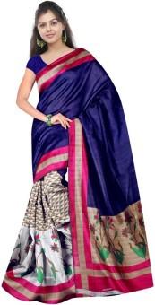 Gulista Printed Mysore Art Silk Sari