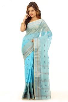 Bengal Handloom Tant Self Design Fashion Handloom Cotton Sari