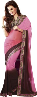 Kessi Embriodered Fashion Pure Georgette Sari