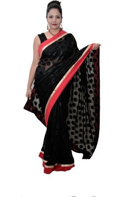 Saree Sparkle Solid Brasso Sari available at Flipkart for Rs.2300