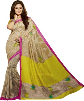 Fashion Boutique Printed Assam Silk Art Silk Sari