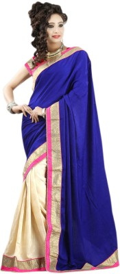 Velvet Nj Fabric Self Design Bollywood Silk, Velvet Sari (Multicolor)